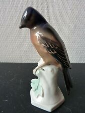 Figurine Oiseau Porcelaine Allemande UNTERWEISSBACH 8511 German Bird Figurine