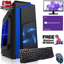 Ultra Fast Quad Core Desktop Gaming PC Computer Bundle 4.2 8GB 1TB Windows 10 FB