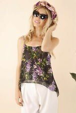 Polyester Floral Regular Size Knit Tops for Women