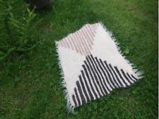 Petit tapis de laine jeter tapis pour les animaux tapis naturel Beige mat