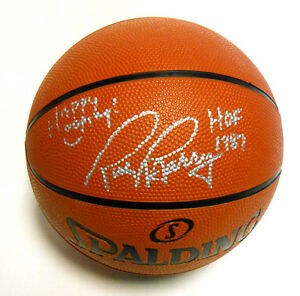 Rick Barry Autographed Signed Basketball Golden State Warriors Happy Hooping HOF