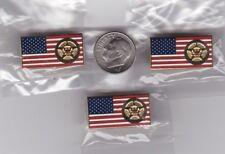 US Marshals Service Badge American Flag Lapel Hat Pin 3-Pack