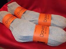 Davido Mens socks crew made in Italy 100% cotton  8 pairs gray  size 10-13