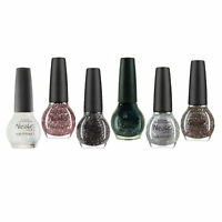Lot of Nicole By OPI Finger Nail Polish Color Lacquer 6-Piece Glitter Set