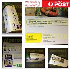 NEW RARE AUS Xbox 360 Kinect White,Adapter,2 Games(Kinect Sports+Adv),3x Gold