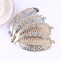 Hair Claws Rhinestone Fish Clips Banana Shape Barrette Hairpins Hair Accessories