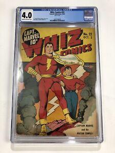 Whiz Comics 22 CGC 4.0 Captain Marvel Fawcett 1941 Classic Cover CC Beck