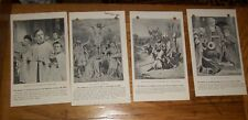 1914 SUNDAY SCHOOL RALLY DAY CARD PLEDGE CHURCH ILLUSTRATED CATECHISM OLD PAPER