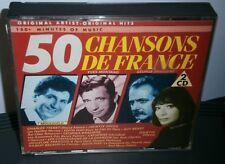 50 CHANSONS DE FRANCE ORIGINAL ARTISTS ORIGINAL HITS DOUBLE CD ALBUM DBG 2-53009