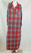 Brandywine vintage Women's Nightgown xl red black plaid flannel cotton long