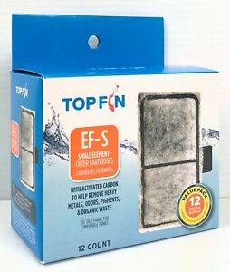 Top Fin EF-S Small Element Filter Cartridges Value Pack 12 Mo Supply 2.1inx3.7in