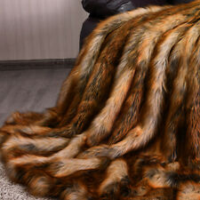 Luxury Plush Faux Fur Throw Blanket Soft Warm Fluffy for Couch Home 54'x 36'