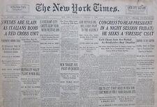 1-1936 January 1 SWEDES SLAIN AS ITALIANS BOMB RED CROSS UNIT ETHIOPIA DOLO