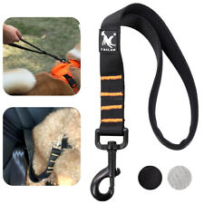 Short Dog Lead with Padded Handel Strong Control Leash Pet Traction Rope Black