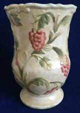 """Vase Umbria by Raymond Waites Certified International 9-3/4"""" Tall Grapes Pink"""
