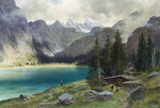 Cabin Lake Mountains by Laszlo Neogrady