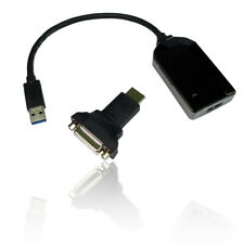 USB 3.0 to HDMI Female Adapter Converter with DVI-D Adapter - BLACK