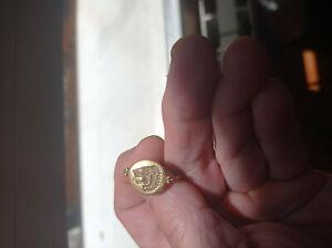 AUTENTICO anillo oro GRECO ROMANO  magnifique