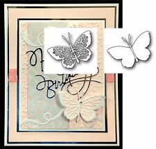 Bundle Butterfly metal die set Theo detail & Whidbey solid cutting dies insects