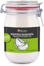 Huile Noix De Coco Vierge Biologique 1000ml  Pressee A Froid Cuisine Beaute Soin