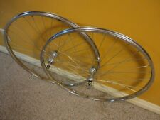 "Early 1980's Vintage ARAYA 27"" x 1¼"" Clincher Road Wheelset with SUNSHINE Hubs"