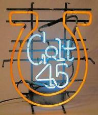 Colt 45 Neon Horse Shoe Bar Light Sign 22 X 17 Local Pickup Only Buffalo Ny Area