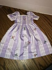 New American Girl FELICITY TRAVELING GOWN 2nd MEET DRESS RETIRED Purple No Box