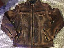 Gilded Age Men Real Genuine Goat  Leather Jacket $500