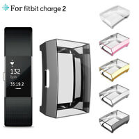 Ultrathin Soft TPU Full Screen protector Clear Case Cover For Fitbit Charge 2 AU