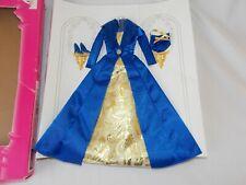 Barbie Fashion Avenue Evening Wear Clothes Blue & Gold Dress Shoes Purse 1997