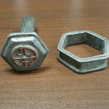 Vintage Chinese Japanese Iron Branding Letter Stamp Wax Sealer