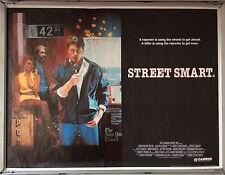 Cinema Poster: STREET SMART 1987 (Quad) Christopher Reeve Morgan Freeman