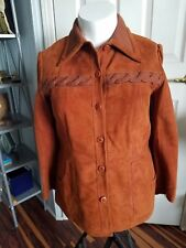 Vintage 70's World Knits Suede Jacket Womens Sizes 14-16