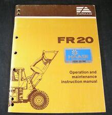 Fiat Allis Fr20 Wheel Loader Tractor Operation Maintenance Manual Book Fiatallis