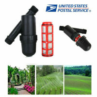 "3/4"" Y Irrigation Water Filter 120 PSI for Greenhouse Garden Strainer Drip Black"