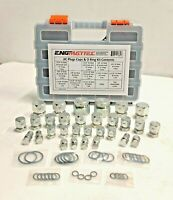 84 Pc Hydraulic JIC Plug, Cap & O Ring Kit in Plastic Case Dash 4 6 8 10 12 16