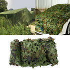 Camo Netting Woodland Army Green Net Military Camping Hunting Hide Shelter 2m-8m