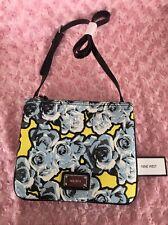 NINE WEST Jaya Floral Blue Yellow Cross Body Handbag