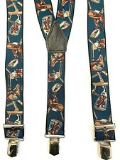Hosenträger 70 cm-200 cm lang 4 breite extra starke ABC-Clips 35 mm breit