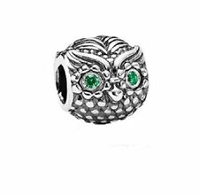 Pandora Charm Wise Owl Dark Green Cubic zirconia 791211CZN