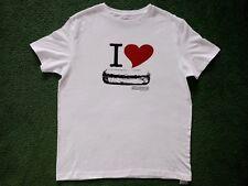 "Chipotle ""I Love Burritos / I Love Chipotle"" White T-Shirt Loomstate Men's Small"