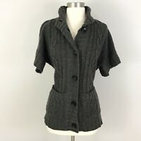 Michael Kors womens small Cardigan Sweater Button Front Pockets Gray