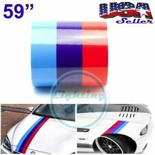 "59"" M-Colored Stripe for BMW Sticker Decal DIY Racing Cosmetic Hood Roof Bumper"
