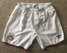 Ragazzi Umbro West Ham United WHU Bianco Calcio Pantaloncini XLB