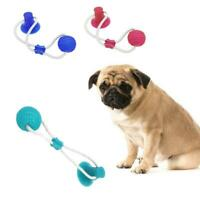 Pet Molar Bite Toy Multifunction Floor Suction Cup Elasticity Dog Toy+Ball A6L1