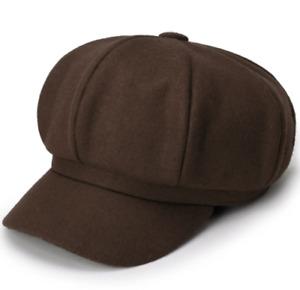 Winter Hat Octagonal Women Beret Wool Cap Painter Cap Newsboy Autumn Warm Hats