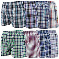 3/6/12 Men's Assorted Colors Executive Cotton Woven Boxer Shorts in Small to 5XL