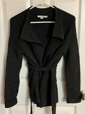 BODEN Barcelona Wrap BELTED Cardigan Sweater, Gray, US Size 2 Wool Alpaca EUC