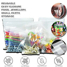 More details for small clear grip seal bags all sizes self press resealable zip lock poly plastic