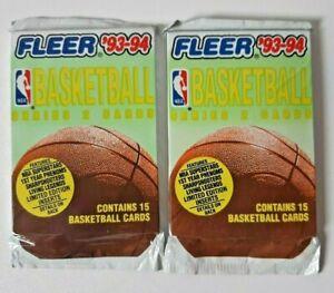 Fleer 93-94 NBA Basketball Cards - 2 x Unopened Packets